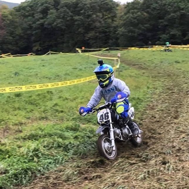 MotorcycleMonday Noah rippin on his fasstraining24 Honda at Juniors Farmhellip