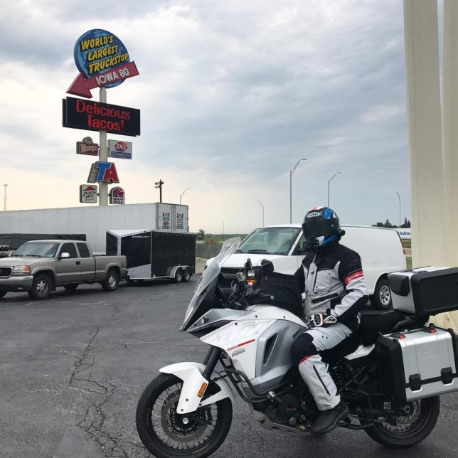 900 miles into our journey worldslargesttruckstop iowa KTM ktm1290 motorcyclehellip