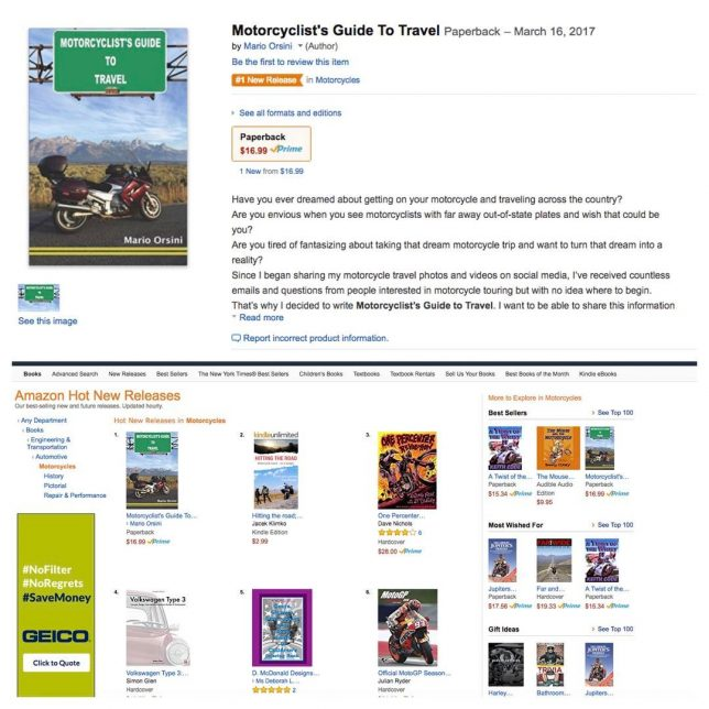 Motorcyclists Guide To Travel has just become an Amazon 1hellip