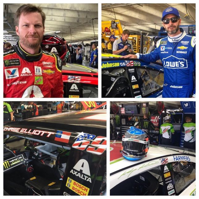 Amazing to see all teamhendrick drivers sporting the 69 inhellip