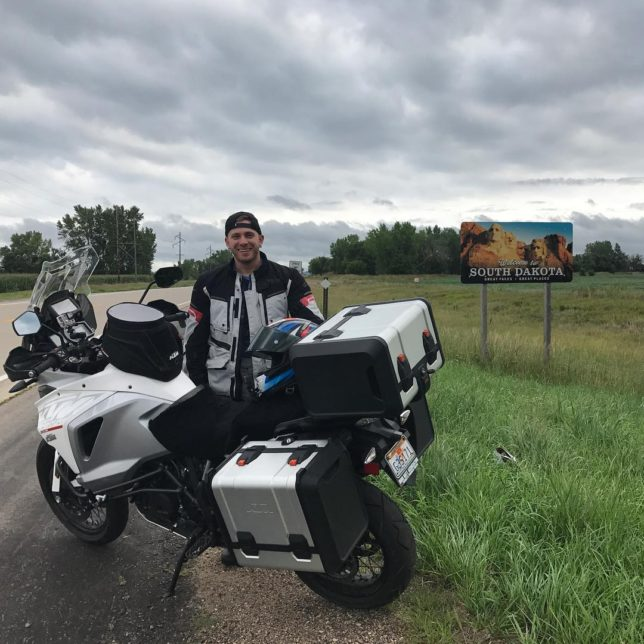 Crossed over into South Dakota early this morning ktm1290 KTMhellip