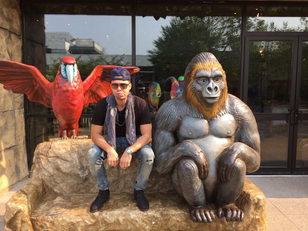 "Thad ""monkeying around"""