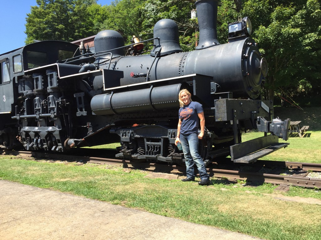 Kristen in front of Locomotive
