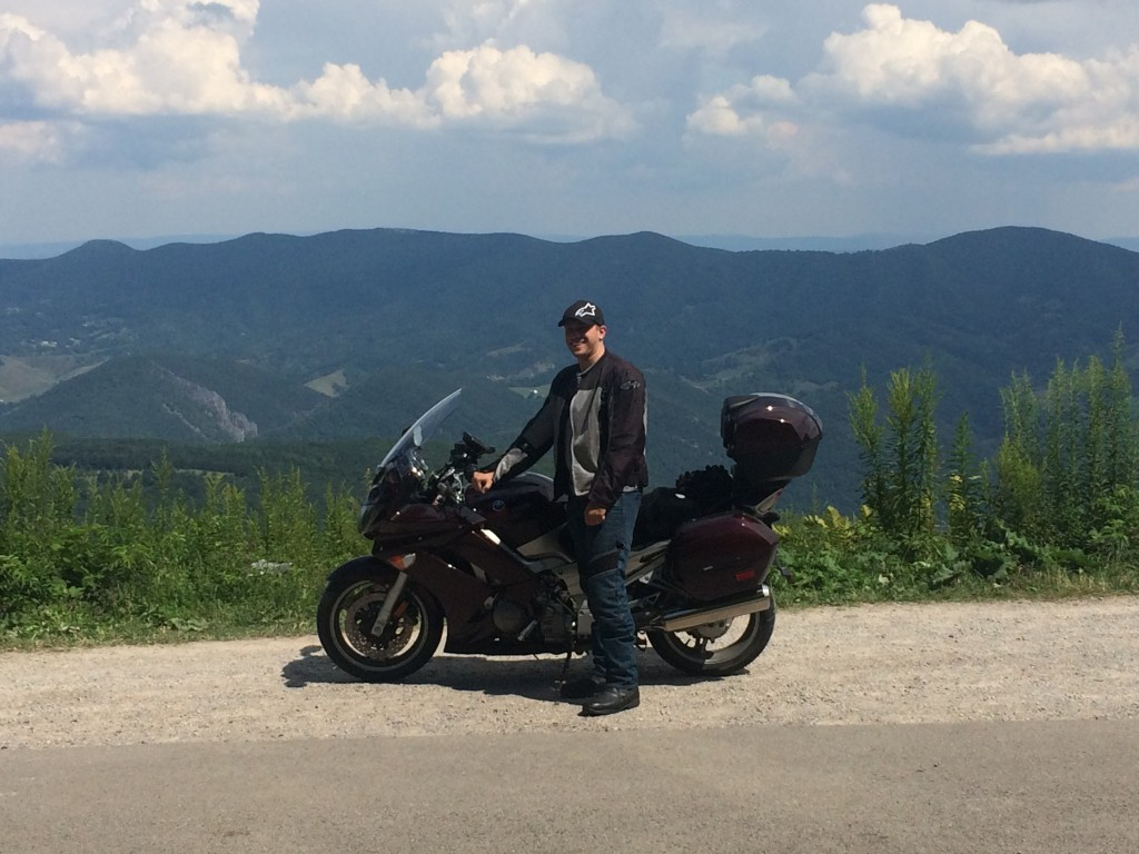 Yamaha FJR1300 on Spruce Knob